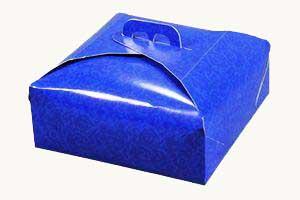 Scatolificio Martinelli Srl: porta torta damascato blu