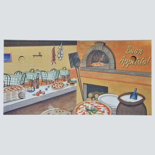 Scatolificio Martinelli Srl - copertina della scatola pizza 35x75x5 Americana con stampa generica e personalizzata