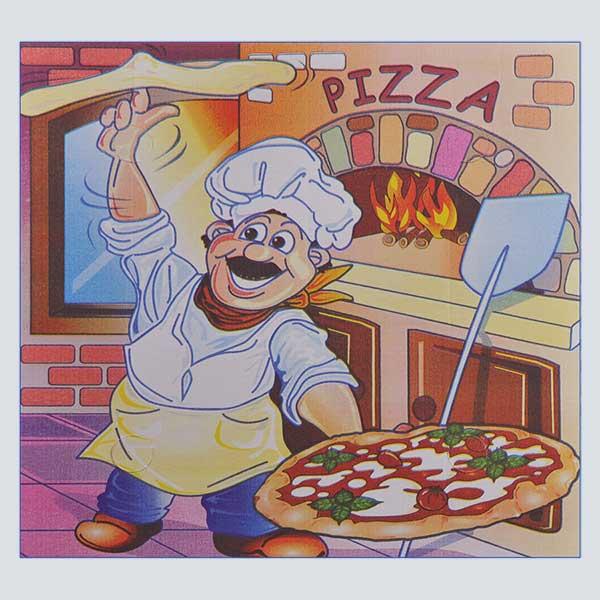 Scatolificio Martinelli Srl – copertina della scatola pizza 45x45x5 Americana con stampa generica e personalizzata