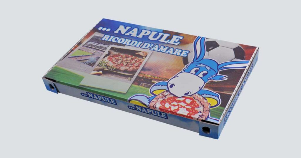 Scatolificio Martinelli Srl - Scatola pizza con stampa generica e personalizzata di tutte le dimensioni: Scatola Pizza 34x56x5 Occhiellata
