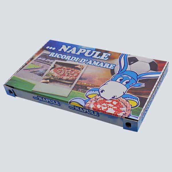 Scatolificio Martinelli Srl – Cartone Pizza 34x56x5 chiusura Occhiellata con stampa generica e personalizzata