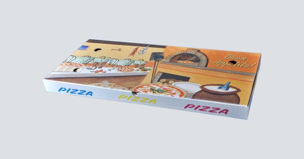 Scatolificio Martinelli Srl - Scatola pizza 35x75x5 Americana con stampa generica e personalizzata