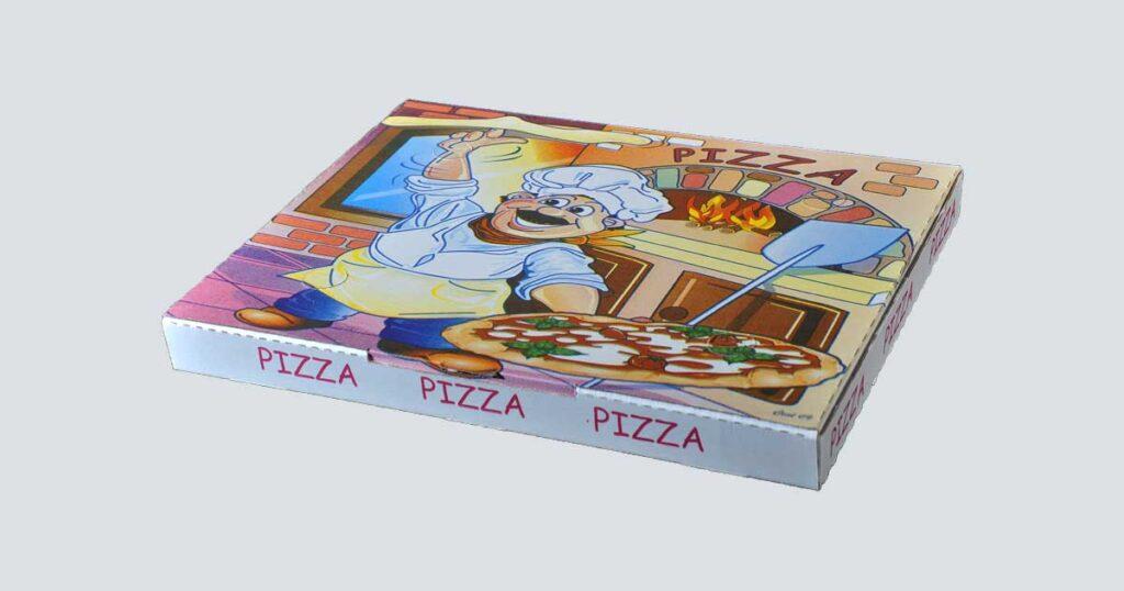 Scatolificio Martinelli Srl - Scatola pizza 37x47x4 Americana con stampa generica e personalizzata