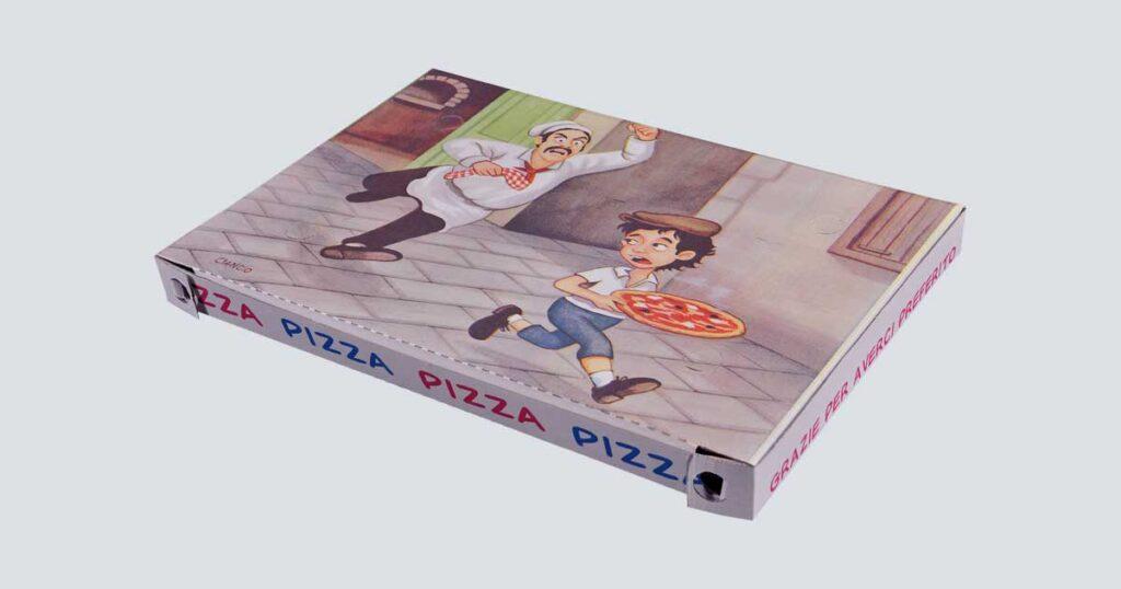 Scatolificio Martinelli Srl - Scatola pizza 40x60x4 Americana con stampa generica e personalizzata