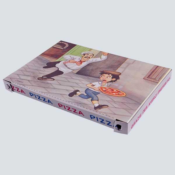 Scatolificio Martinelli Srl – Scatola pizza 40x60x4 Americana con stampa generica e personalizzata