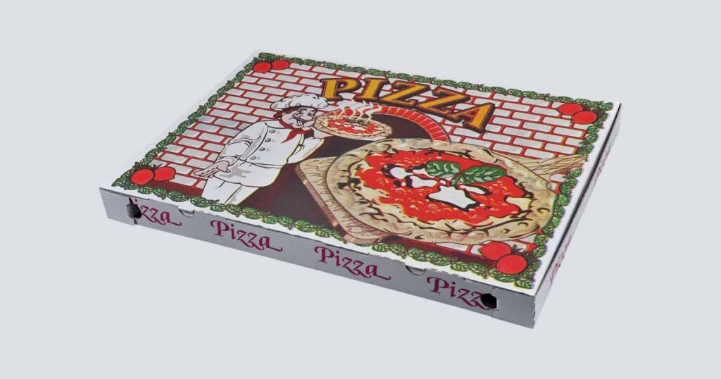 Scatolificio Martinelli Srl - Scatola pizza 40x60x5 Occhiellata con stampa generica e personalizzata