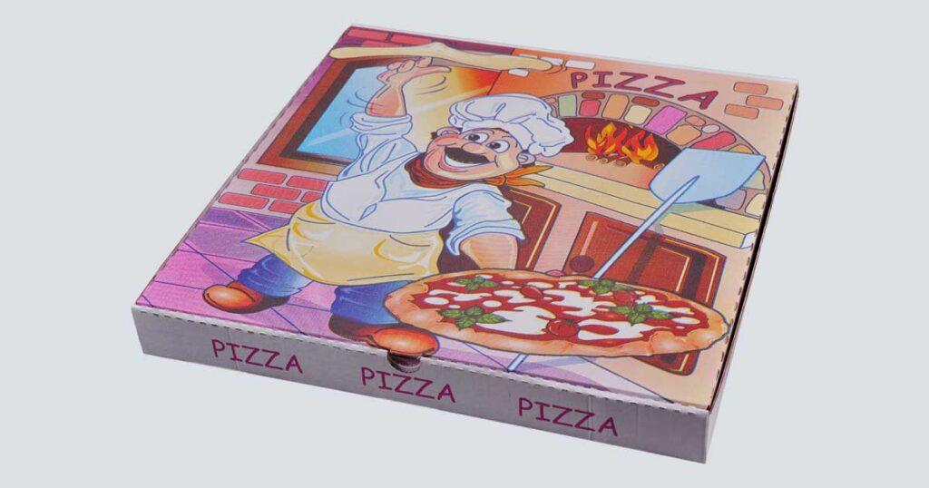 Scatolificio Martinelli Srl - Scatola pizza 45x45x5 Americana con stampa generica e personalizzata