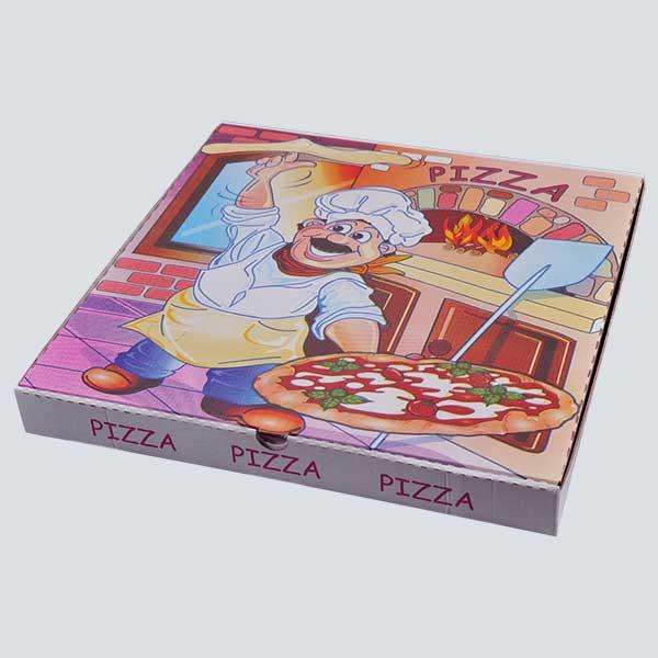 Scatolificio Martinelli Srl – Cartone Pizza 45x45x5 chiusura Americana con stampa generica e personalizzata