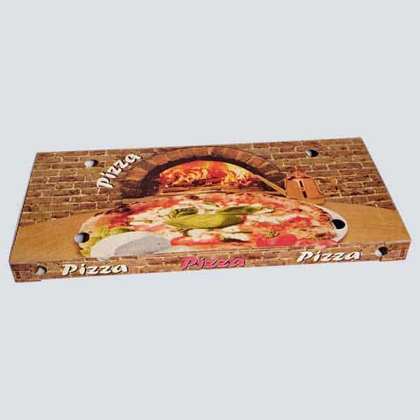 Scatolificio Martinelli Srl - Scatola Pizza 35x75x5 Occhiellata con stampa generica e personalizzata